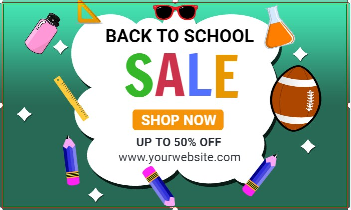 Sale Back To School Banner!