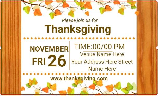 Banner Happy Thanksgiving!