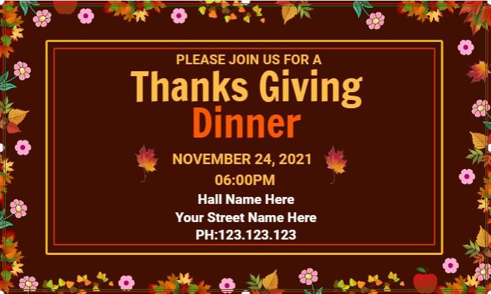 Banner Thanksgiving Dinner!