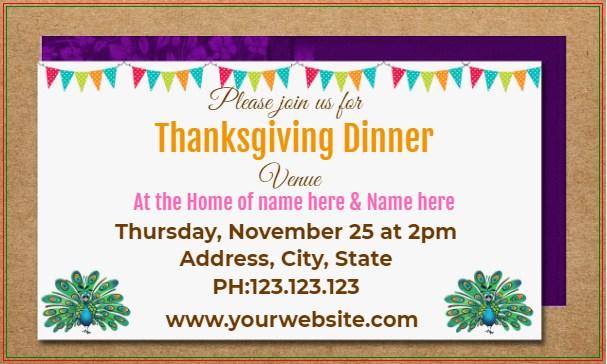 Happy Thanksgiving Dinner Banner!