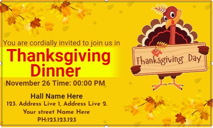 Thanksgiving Dinner Banner!